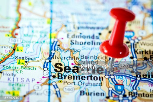 Seattle Washington On A Map Stock Photo Getty Images - Seattle us map