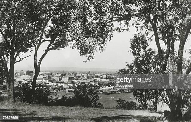 circa 1920 A general view of Perth Western Australia shown from Kings Park