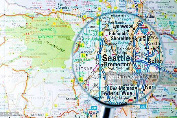 Städte unter der Lupe auf der Karte: Seattle