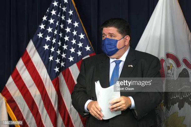 Citing substantial spread of the Covid-19 virus across the state, Illinois Governor J.B. Prtizker announces a statewide mandate requiring masks be...