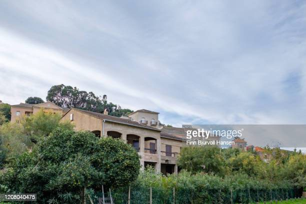 citiscape and buildings in ogliastro - finn bjurvoll stock pictures, royalty-free photos & images