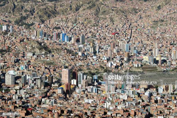 Citiscape from El Alto viewpoint on November, 2016 in La Paz, Bolivia.