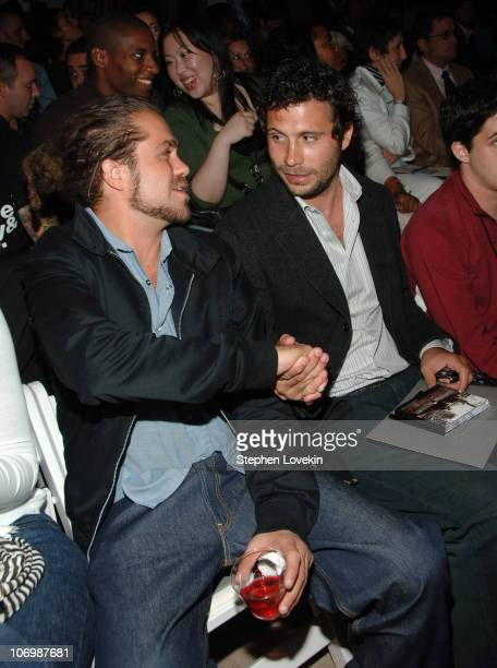 Citizen Cope and Jeremy Sisto during Olympus Fashion Week Spring 2007 John Varvatos Front Row and Backstage at The Promenade Bryant Park in New York...