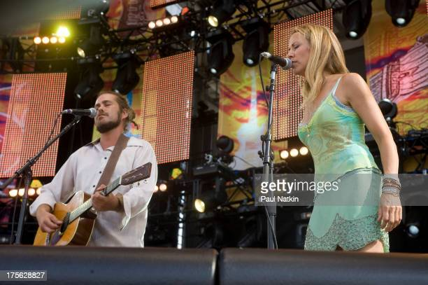 Citizen Cope and Sheryl Crow at Eric Clapton's Crossroads Guitar Festival at Toyota Park Bridgeview Illinois June 26 2010