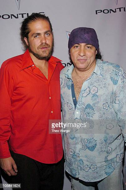 Citizen Cope and Steven Van Zandt during Pontiac Live Unveiling of Pontiac Garage and Pontiac Solstice at Times Square and Whiskey Bar in New York...
