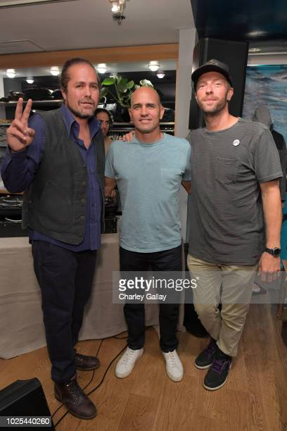Citizen Cope Outerknown CoFounder Kelly Slater and Chris Martin attend the launch of SEA JEANS celebrated by Outerknown at Ron Herman Melrose on...