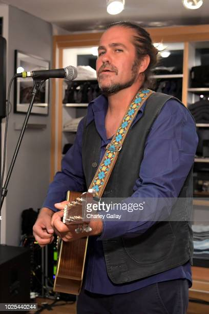 Citizen Cope performs during the launch of SEA JEANS celebrated by Outerknown at Ron Herman Melrose on August 30 2018 in Los Angeles California
