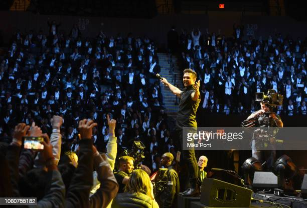 Citizen Way performs on stage during Peace Starts With Me concert at Nassau Coliseum on November 12 2018 in Uniondale New York