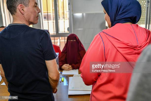 Citizens are seen voting in Ceuta on May 26, 2019 in Ceuta, Spain. .