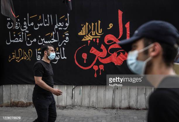 Citizens Bahraini Shiite Muslims participate in the revival of Ashura ceremony on 30 Augest 2020 in the village of Sanabis, south of the Bahraini...