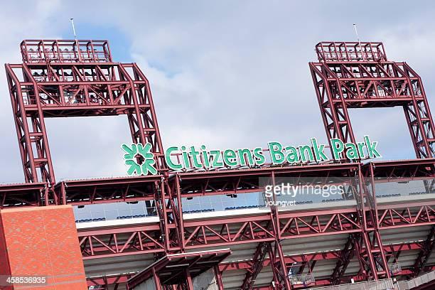 citizens bank park - patrocinador fotografías e imágenes de stock