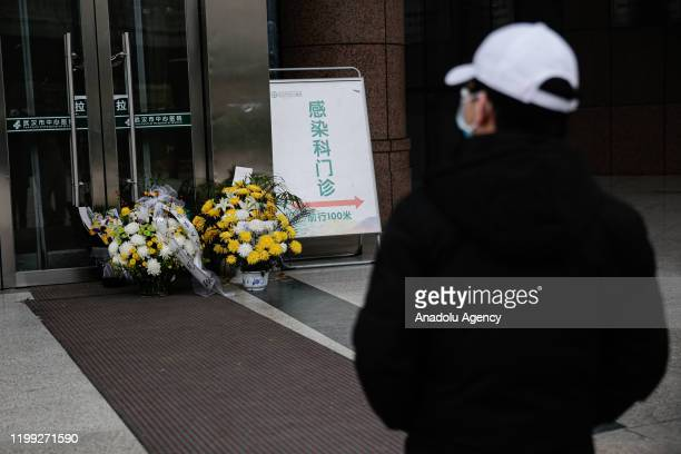 Citizens mourn doctor Li Wenliang on February 72020 in Wuhan China Dr Li Wenliang regarded a whistleblower on the pneumonia outbreak died of the...