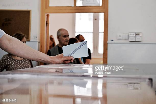 Citizens of Greece vote for the Euro Elections and the second round of the Municipality elections at a polling station in Thessaloniki Up to 350...