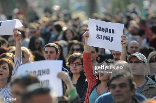 CONTENT] Citizens of Macedonia were marching for tolerance and nonviolence after several violent incidents between youth from different ethnic...