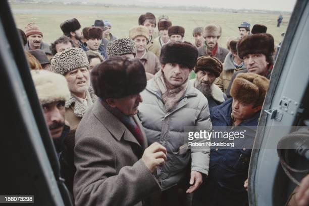 Citizens of Nazran, Ingushetia, during the East Prigorodny Conflict, 1992.