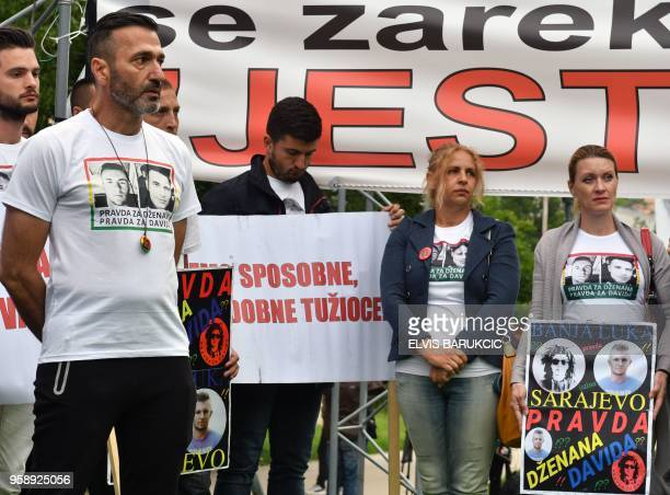 Citizens of Sarajevo and Banja Luka gather in a joint protest in Sarajevo on May 15 seeking justice in two criminal cases that happened two years ago...