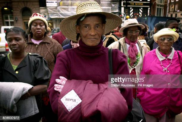 Citizens of the Indian Ocean island of Chagos arrive at the High Court in London where they are claiming compensation for being exiled from their...