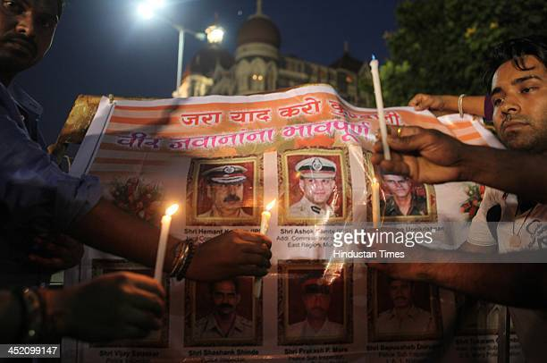 Citizens pay tribute to 26/11 martyrs on the fifth anniversary of the 26/11 Mumbai attacks those killed by 10 LashkareTaiba terrorists in the...