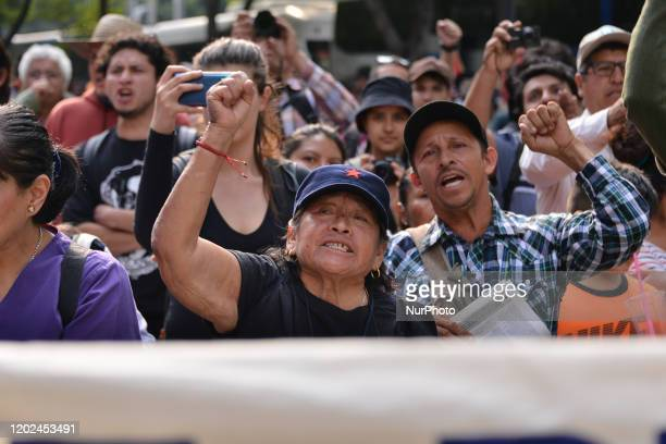 Citizens take part during a demonstration for the murder of environmental activist Samir Flores and against the construction of the thermoelectric...