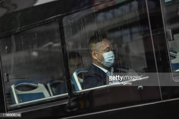 """Citizens wear masks to defend against new viruses on January 22,2020 in Guangzhou, China.The 2019 new coronavirus, known as """"2019-nCoV"""", was..."""