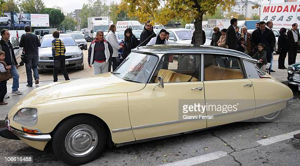 Citroen DS 21 on display during an exhibition of vintage vehicles on November 7 2010 in Hortaleza Madrid Spain