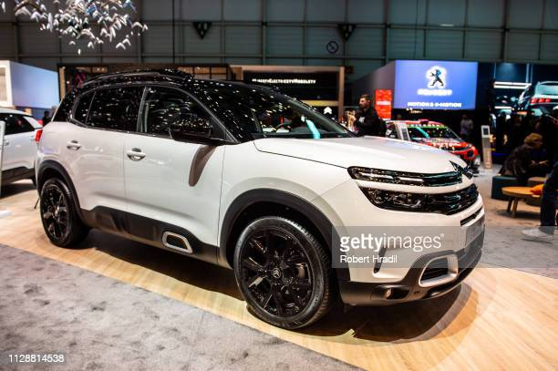 Citroen C5 AIRCROSS SUV is displayed during the second press day at the 89th Geneva International Motor Show on March 5 2019 in Geneva Switzerland