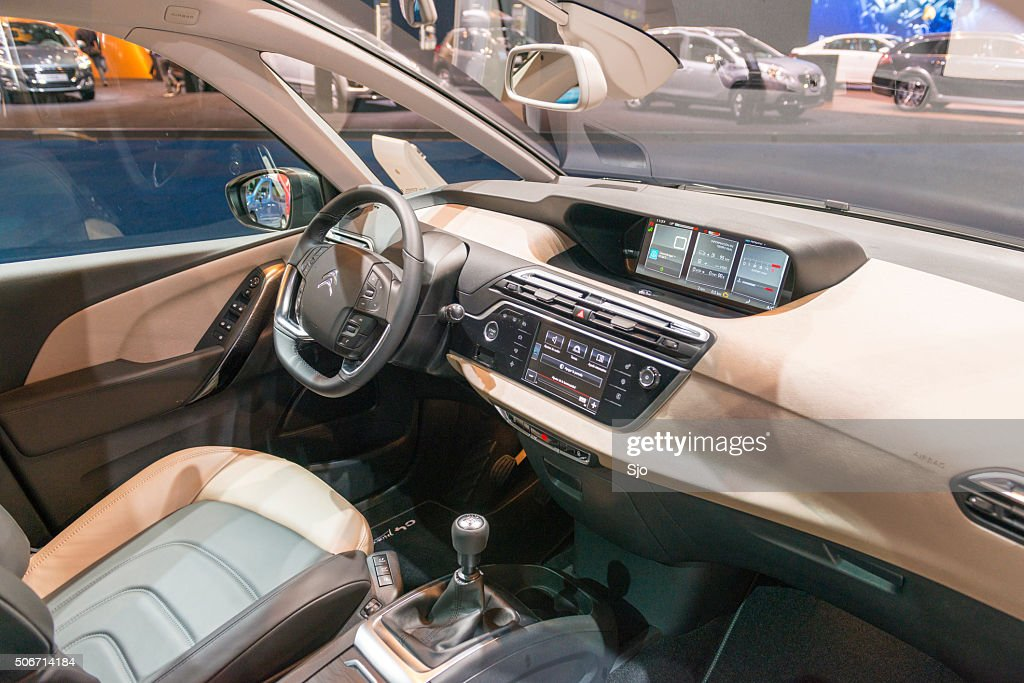 Citroen Grand C4 Picasso Mpv Interior Stock Photo | Getty Images