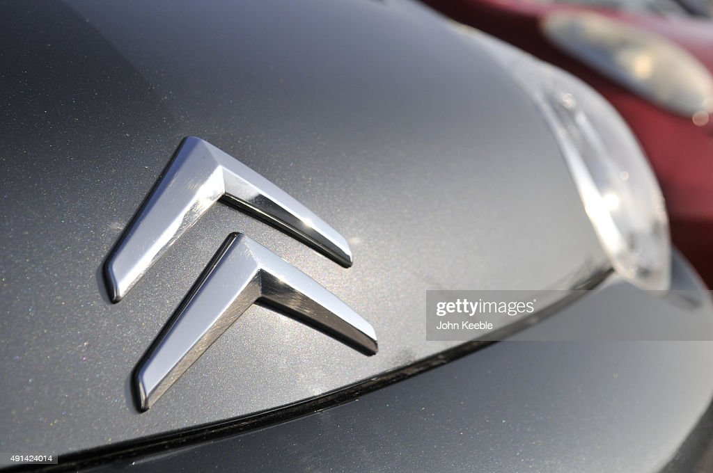 Citroen logo is pictured on October 4, 2015 in Southend on Sea, England.
