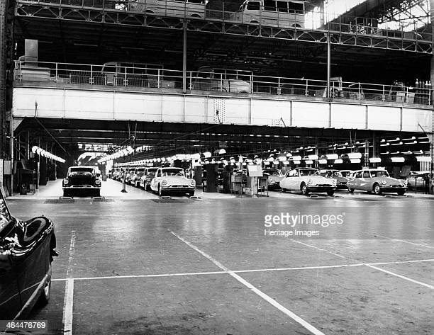 Citroen Production line 1960 Producing Citroen DS 19s and Citroen ID 19s