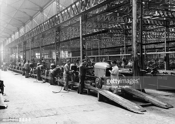 Citroen production line France c1922 Men busy working on the B2 model