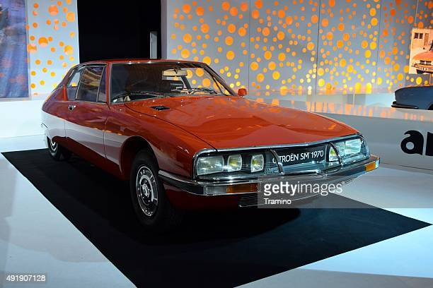 citroen sm on the motor show - sm stock photos and pictures