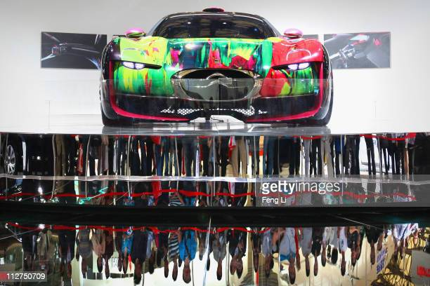Citroen Survolt Conception Car is displayed during the media day of the Shanghai International Automobile Industry Exhibition at Shanghai New...