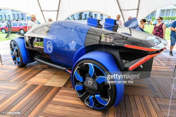 Citroën 19_19 Concept futuristic all electric concept car on display at the 2019 Concours d'Elegance at palace Soestdijk on August 25 2019 in Baarn...