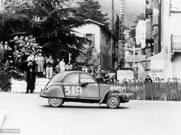 Citroën 2CV in the Monte Carlo Rally, 1954.