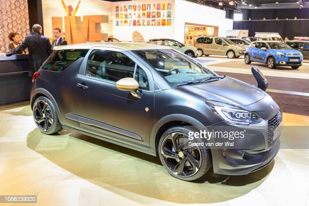 Citroën DS 3 compact hatchback car on display at Brussels Expo on January 13 2017 in Brussels Belgium DS Automobiles is the luxury brand of French...