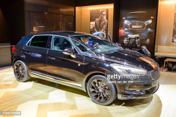 Citroën DS 5 luxury crossover MPV car on display at Brussels Expo on January 13, 2017 in Brussels, Belgium. DS Automobiles is the luxury brand of...