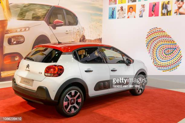 Citroën C3 compact hatchback car on display at Brussels Expo on January 13 2017 in Brussels Belgium The third generation of the Citroen C3 is...