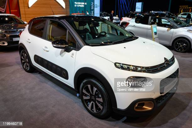 Citroën C3 Origins compact car on display at Brussels Expo on January 9, 2020 in Brussels, Belgium.