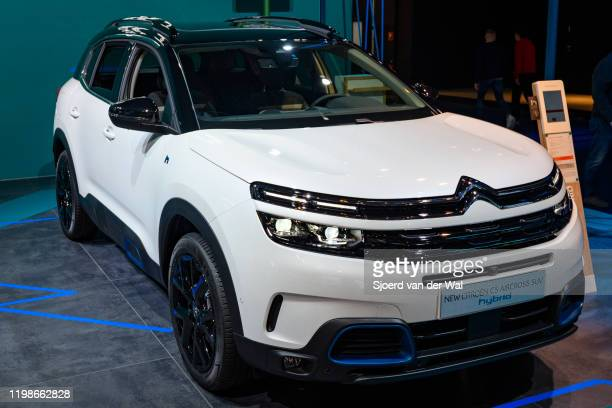 Citroën C5 Aircross Hybrid plugin hybrid crossover SUV on display at Brussels Expo on JANUARY 09 2020 in Brussels Belgium The C5 Aircross Hybrid is...