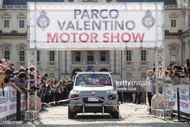 Citroën EMehari electric and autonomous in 5G to the ribbon cutting at the Parco Valentino Motor Show on June 19 2019 in Turin Italy