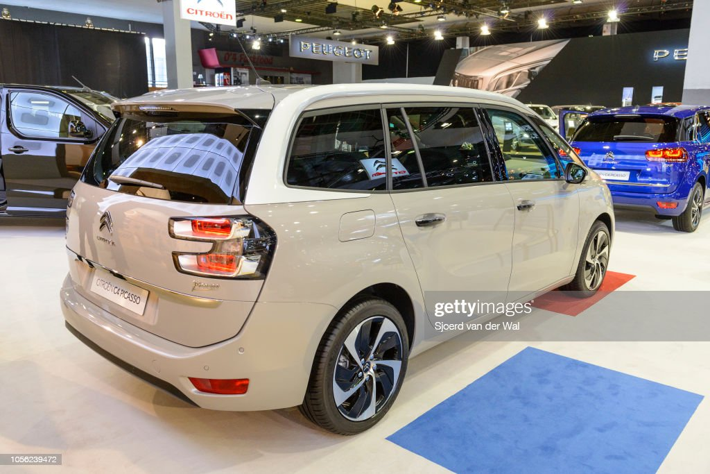 Citroën Grand C4 Picasso mpv car on display at Brussels Expo