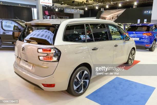 Citroën Grand C4 Picasso mpv car on display at Brussels Expo on January 13, 2017 in Brussels, Belgium. The C4 Picasso is available as 5-seat...