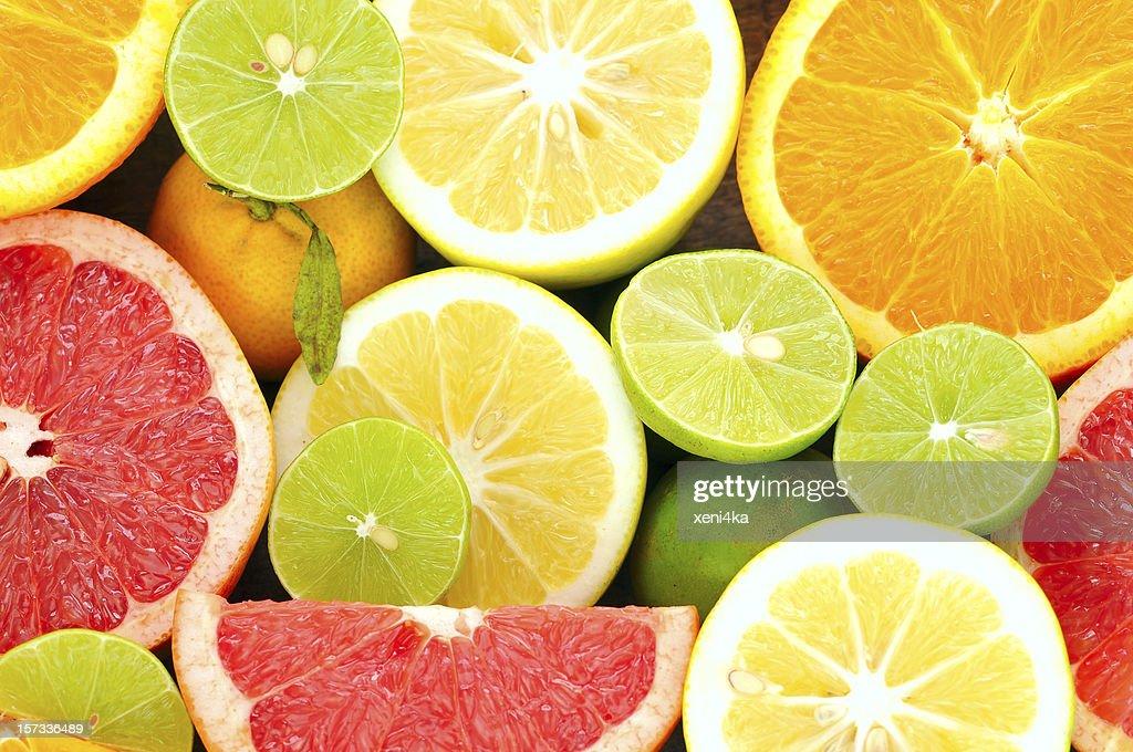 Citrus fresh fruits : Stock Photo