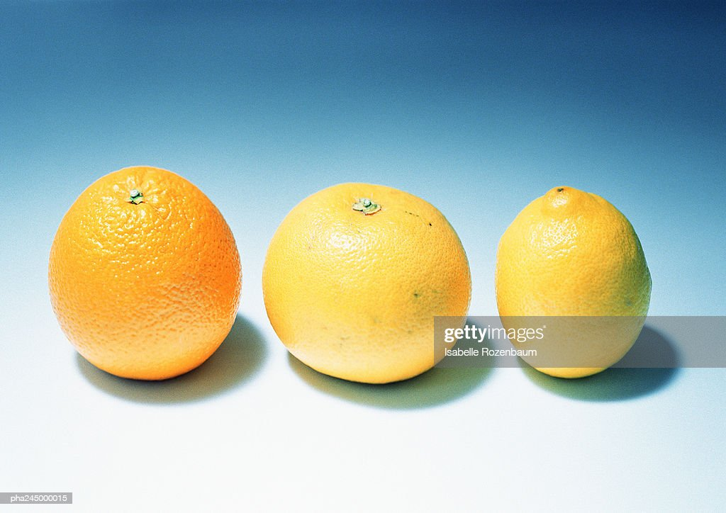 Citrus fruits, close-up : Stockfoto