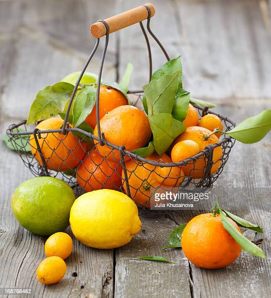 Citrus in a basket