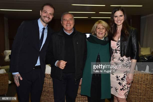 US Citta' di Palermo new President Paul Baccaglini President of Italian Senate Pietro Grasso his wife Maria Fedele and Baccaglini's partner Thais...