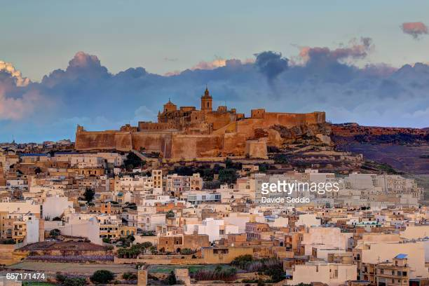 Cittadella Vicotria in Gozo in the morning light