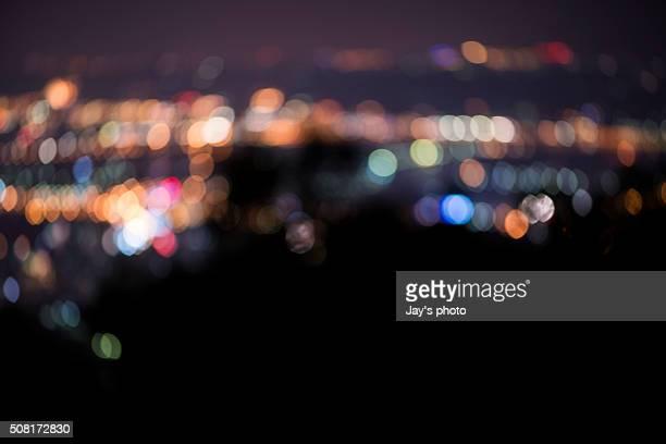 City abstract at night