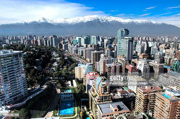 city aerial view - chile stock pictures, royalty-free photos & images