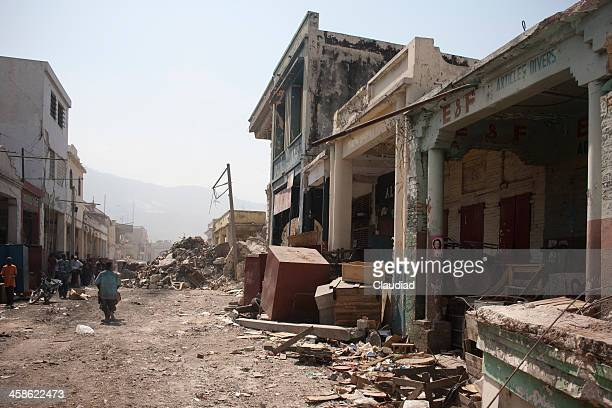 City after earthquake